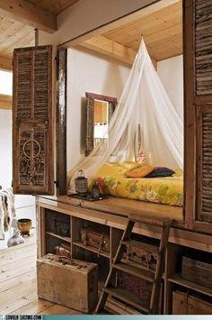 Preciosa cama balinesa. Todo paz y tranquilidad