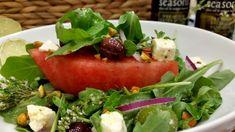 Watermelon Wedge Salad with Easy Lime & Oregano Vinaigrette | SeasonsTaproom.com