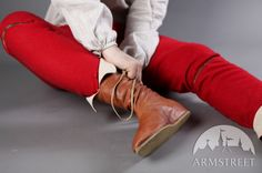 Medieval handmade leather shoes boots renaissance for sale