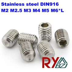 $4.50 (Buy here: https://alitems.com/g/1e8d114494ebda23ff8b16525dc3e8/?i=5&ulp=https%3A%2F%2Fwww.aliexpress.com%2Fitem%2FM3-3-DIN916-Stainless-Steel-A2-Hex-socket-head-set-screw-SUS-304-DIN913-M3-L%2F1912966058.html ) 100pcs/lot  M2 M2.5 M3 M4 M5 M6 *L  DIN916 Stainless Steel A2 Hex socket head set screw  SUS 304 DIN916 for just $4.50