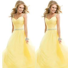 Long Chiffon Wedding Evening Formal Party Ball Gown Prom Bridesmaid Dress