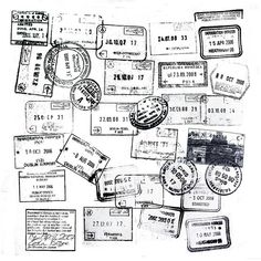 Wall art for your passport stamps