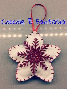 Decorazioni natalizie: stelle in pannolenci