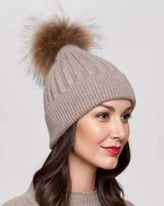 d140c8e4028 Coco Brown Rib Knit Beanie with Finn Raccoon Pom Pom Outfits With Hats