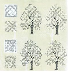 Geek Cross Stitch, Cross Stitch Tutorial, Simple Cross Stitch, Cross Stitch Flowers, Cross Stitch Charts, Cross Stitch Patterns, Blackwork Cross Stitch, Blackwork Embroidery, Hand Embroidery Stitches