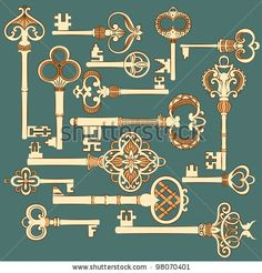 victorian key illustration - Google Search