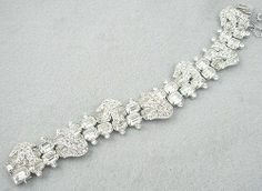 Eisenberg Rhinestone Baguette Bracelet - Garden Party Collection Vintage Jewelry