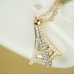 New Arrival Romantic Eiffel Tower Style Fashion Lady's Necklace