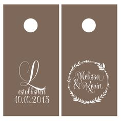 Corn Hole Board Decals | Wedding Decor Rustic | Personalized Wedding | Cornhole Decal by LuluGirlDesigns on Etsy https://www.etsy.com/listing/250008928/corn-hole-board-decals-wedding-decor