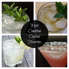 Mint Condition Cocktail Favorites: Brighten Up Classic Cocktail Recipes with Fresh Mint for a #Summer Sensation