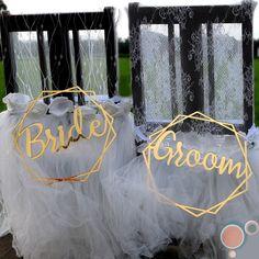 BRIDE & GROOM Wedding Chair Sign Set by FAVOURGRAM on Etsy Wedding Groom, Bride Groom, Our Wedding, Wedding Chair Signs, Wedding Chairs, Buntings, Etsy, Decor, Bunting Garland