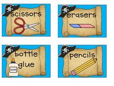 Free Pirate Classroom Supply Labels... WHAT!?