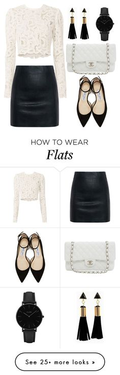 """""""Leather Skirt (OUTFIT ONLY!)"""" by tlb0318 on Polyvore featuring A.L.C., McQ by Alexander McQueen, Karl Lagerfeld, Jimmy Choo and CLUSE"""