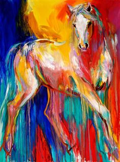 Horse painting for Piper's room