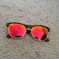 Ray Ban sunglasses Ray Ban club master oversized flash lenses. Red/yellow reflective lenses with brown tortoise frames. No case, no scratches, only worn once. Style RB 4175 6092/69 2N Ray-Ban Accessories Sunglasses