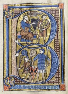 This is a British Library blog with many, many examples of medieval illuminated manuscripts, some from exactly the period that your letter is set in.
