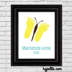 love the feet for wings! Also love that this is my baby girls name, just spelled different haha Baby Crafts, Crafts To Do, Crafts For Kids, Projects For Kids, Diy For Kids, Art Projects, Footprint Art, Baby Footprints, Butterfly Crafts