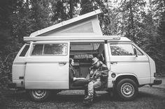 VW van + guitar... yesssss | Engagement session by http://owlandfoxstudios.com