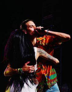 """""""Kehlani and G-Eazy perform on the Mojave stage during day 3 of the Coachella Valley Music And Arts Festival (Weekend 1) at the Empire Polo Club on April 16, 2017 in Indio, California. """""""