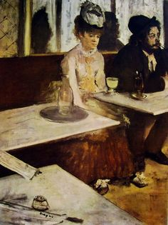 The Absinthe Drinker by Degas, 1876, France