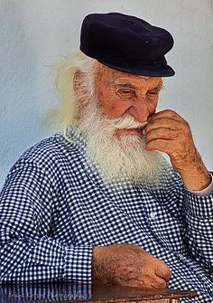 This is my Greece   Old man in Apeiranthos, a mountainous village in the island of Naxos