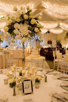 Dekoracje weselnej sali Jak udekorować sufit weselnej sali?