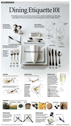 Great guide for a formal table setting. I doubt most of us will need more than these dishes and utensils in our lifetimes and definitely not for daily use! [From the Daily Truffle]