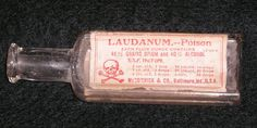 "By the Victorian era, opium use was rife throughout the West. Many patent medicines (no ingredients on the bottles!) ~ including those for teething babies ~ contained opium amongst many other things. The Opium Eater became a popular figure of revilement at the time. Opium generally wasn't ""eaten"" but consumed as laundanum drops. Laudanum was a tincture of opium in brandy or sherry."