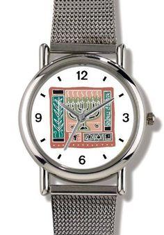 Menorah No.1 Judaica Jewish Theme - WATCHBUDDY® ELITE Chrome-Plated Metal Alloy Watch with Metal Mesh Strap-Size-Small ( Children's Size - Boy's Size & Girl's Size ) WatchBuddy. $79.95