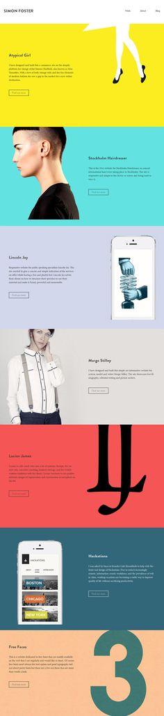 Unique Web Design, Simon Foster via @phillipschmanau #WebDesign #Design
