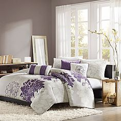 @Overstock - Add a stylish touch to your bedroom with this six-piece duvet cover set from Madison Park. This contemporary set is finished with a lovely flower embroidery. http://www.overstock.com/Bedding-Bath/Madison-Park-Bridgette-6-piece-Duvet-Cover-Set/7110740/product.html?CID=214117 $89.99