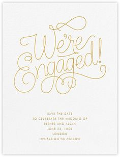 Bobbin Engagement - Gold - Paperless Post