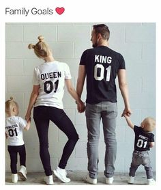 King Queen Prince Princess 01 Father Mother Daughter Son Matching shirts King and Queen shirts UNISEX Price per item - Princess T Shirt - Ideas of Princess T Shirt - König Königin Prinz Prinzessin 01 Vater Mutter Tochter Sohn Matching Family Outfits, Matching Shirts, Matching Clothes, Matching Set, Matching Couples, Letter Matching, Family Goals, Family Love, Cute Family Pictures