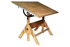1930s Industrial Drafting Table
