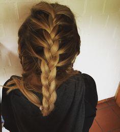 braided hair blonde