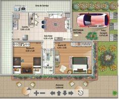 plantas de casas até 60 metros quadrados como fazer