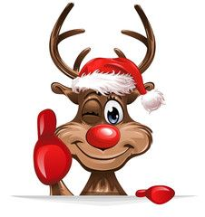 Christmas Reindeer photos, royalty-free images, graphics, vectors & videos - Christmas Rudolph smiling thumps up - Snoopy Christmas, Christmas Clipart, Christmas Love, Christmas Pictures, Winter Christmas, Christmas Graphics, Xmas, Christmas Art Projects, Christmas Crafts