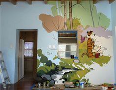 calvin hobbes mural