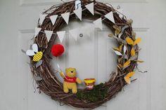 Winnie the pooh wreath ://www.etsy.com/listing/199951162/rustic-winnie-the-pooh-wreath