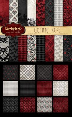 Gothic Rose Backgrounds. Wedding Card Templates