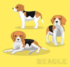 Ilustración vectorial de dibujos animados de perro Beagle - ilustración de arte vectorial