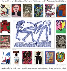 Welcome to a collection of outsider art Emo, Web Gallery, Outsider Art, Camel, The Outsiders, Kids Rugs, Creative, Artist, Mannheim