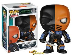 A Deathstroke Pop! figure, as he appears in Arrow!
