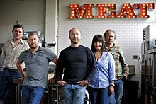 olympia provisions crew & their iconic Meat sign