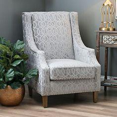 Quinn Dove Gray Accent Chair | Kirklands