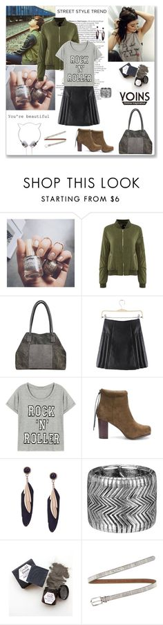 """""""Yoins Green Bomber"""" by ludmyla-stoyan ❤ liked on Polyvore featuring Floss Gloss, Fausto Colato, women's clothing, women's fashion, women, female, woman, misses, juniors and StreetStyle"""