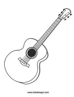 Chitarra 4 Xmas DecorationsMusical InstrumentsColoring PagesMusicalsGUITARPrint