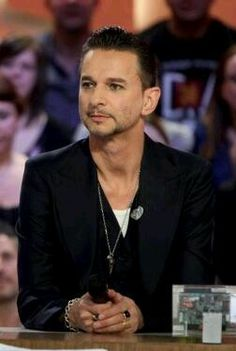 Beautiful Dave Gahan in an interview.  Depeche Mode of course.