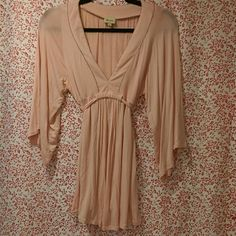 Ella Moss tunic top Peach colored soft flowing top with tie waste, kimono sleeves and beaded trim. Ella Moss Tops Tunics