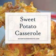 Sweet Potato Casserole with Pecans is the ultimate sweet potato souffle recipe using fresh sweet potatoes, pecan topping and marshmallows. Sweet Potato Souffle, Sweet Potato Pecan, Sweet Potato Recipes, Veggie Recipes, Cooking Recipes, Veggie Meals, Potatoe Casserole Recipes, Sweet Potato Casserole, Food Videos